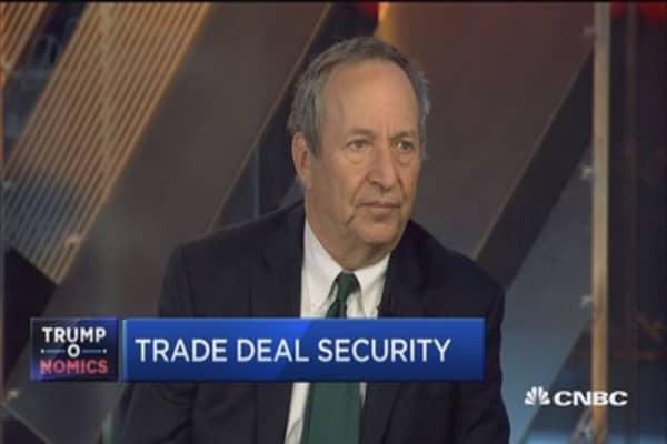 Border tax will burden US dollar debtors: Larry Summers