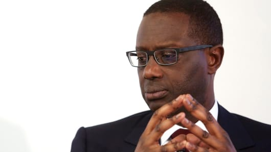 Tidjane Thiam, chief executive officer of Credit Suisse Group AG.