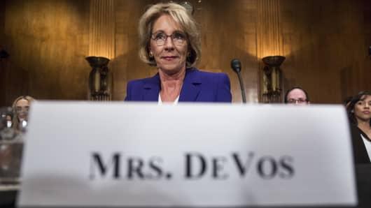 Betsy DeVos, secretary of education nominee.