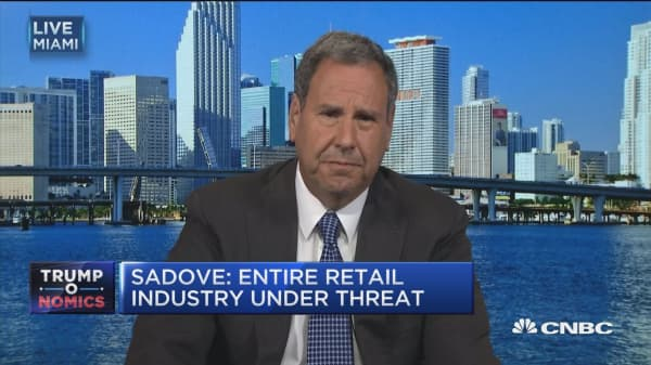 Border tax an 'existential threat' to retailers: Sadove