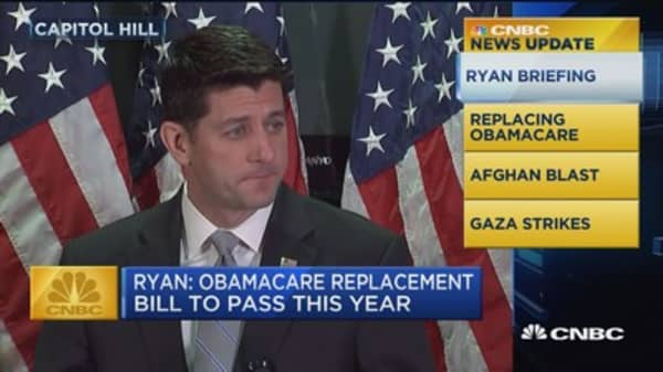 CNBC Update: Paul Ryan looks for ACA replacement this year