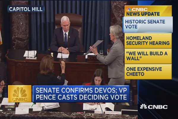CNBC Update: Senate confirms DeVos as Education secretary