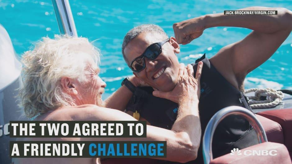 Watch Obama and Richard Branson kitesurf together