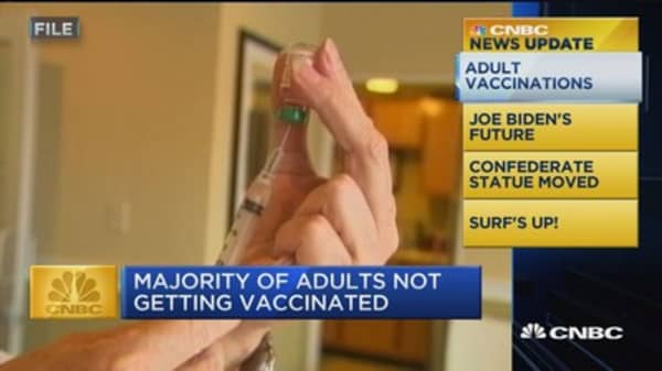 CNBC Update: Majority of adults not getting vaccinated