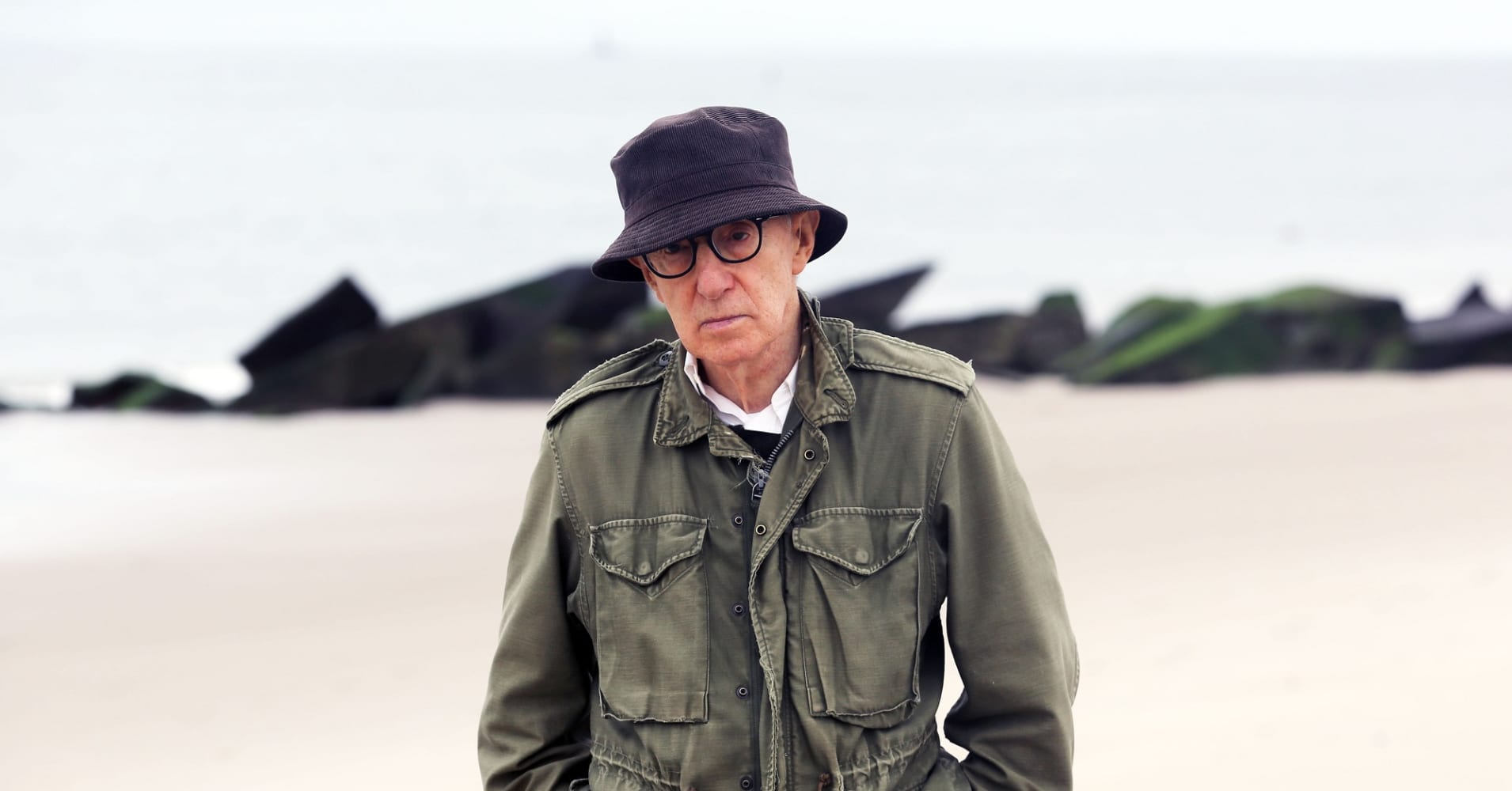 Woody Allen filming his new Fall project on September 19, 2016 in New York City.
