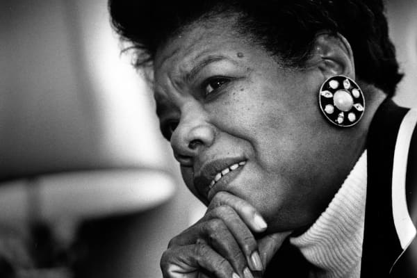 Author and poet, Maya Angelou, poses for a portrait in Washington, D.C. on December 15, 1992.