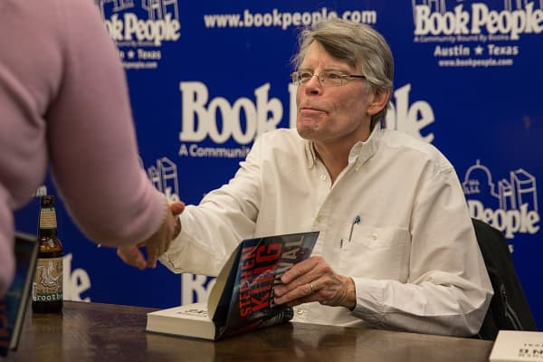Author Stephen King signs copies of his new book 'Revival: A Novel' at Book People on November 15, 2014 in Austin, Texas.