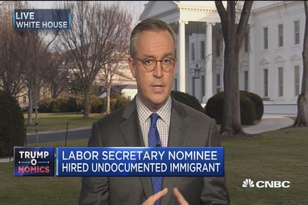 Labor secretary nominee hired undocumented immigrant