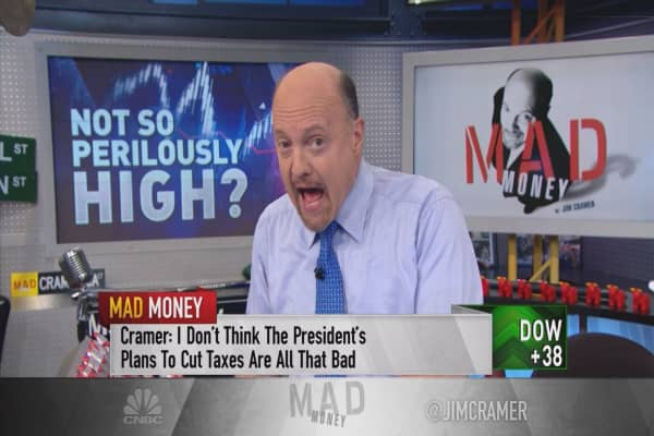 Cramer says the stock market's new-highs have nothing to do with trump