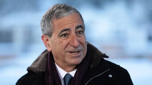 Ken Moelis, founder, chairman and chief executive officer of Moelis & Co., speaks during an interview at the World Economic Forum (WEF) in Davos, Switzerland, on Wednesday, Jan. 18, 2017.