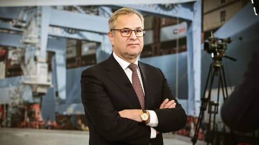Soren Skou, chief executive officer of A.P. Moeller-Maersk A/S