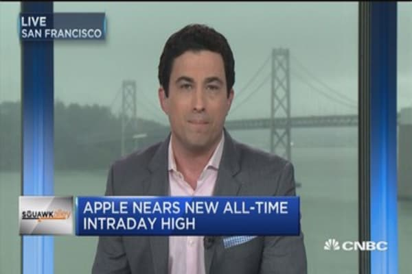 Apple nears new all-time intraday high
