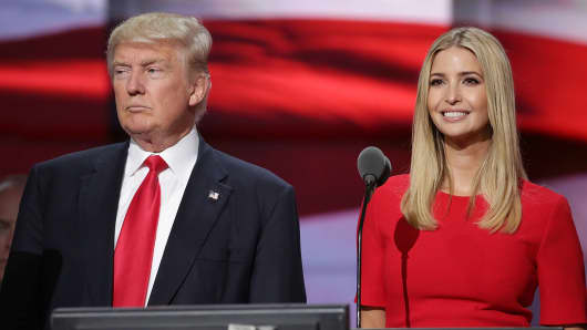 Donald Trump and his daughter Ivanka Trump.