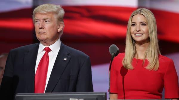 Donald Trump and his daughter Ivanka Trump.
