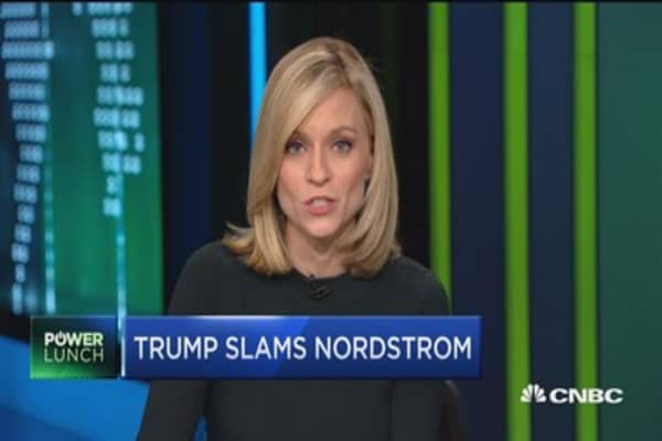 Trump slams Nordstrom for dropping daughter's brand