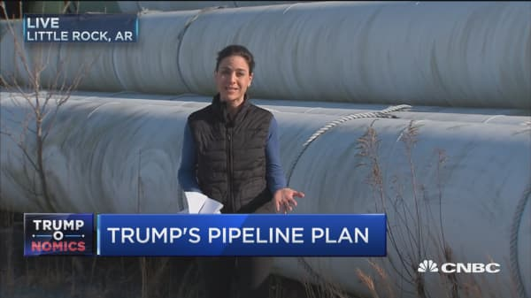 More than 50% of pipeline for Keystone sitting idle