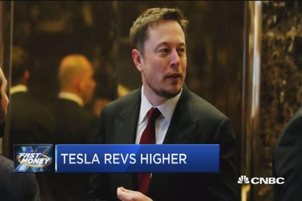 Tesla revs higher