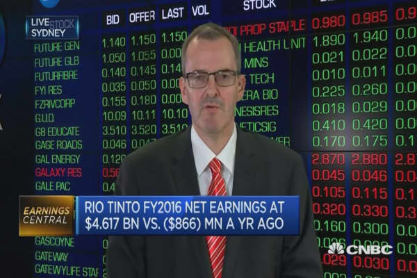 Big turnaround for Rio Tinto
