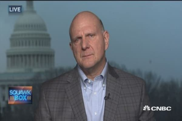 Ballmer: Tech revolt over Trump's immigration ban is off the mark