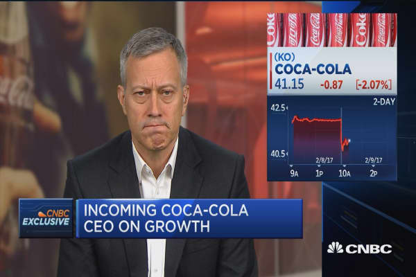 Coke's Quincey: Need to look at core underlying business for growth