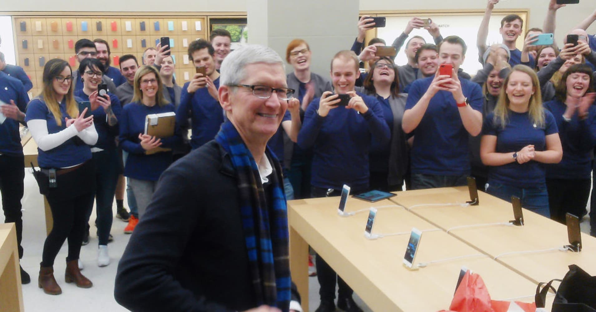 Tim Cook in Glasgow, Scotland.