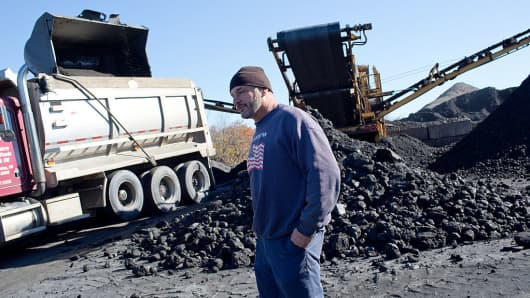 Schuylkill County, Pennsylvania coal mine operator Ettore DiCasimirro runs one of the few surviving mines in the area, once a prosperous coal region.