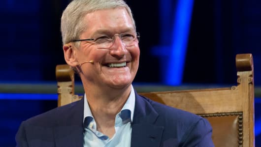 Tim Cook, chief executive officer of Apple