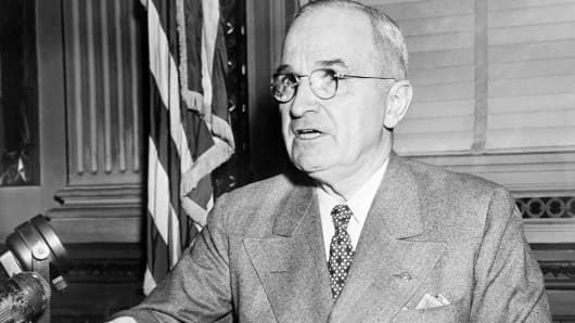 Harry Truman (1884-1972), 33rd president of the U.S.