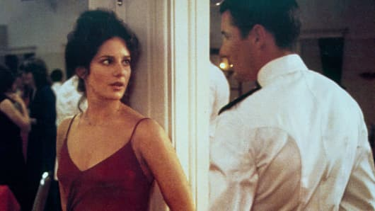 Richard Gere and Debra Winger featured in the movie An Officer and a Gentleman - 1982