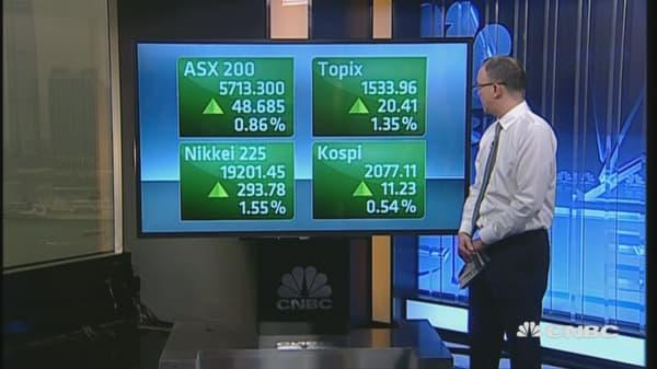 Asian markets open higher
