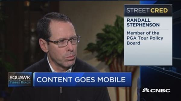 AT&T CEO: Arms race going on for networks and content