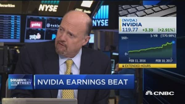 Cramer: Nvidia's earnings were 'frighteningly positive'