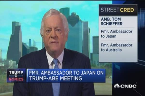 President Trump's goals after talks with Abe: Schieffer
