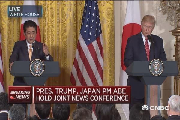 Abe: Japanese companies looking to invest in US