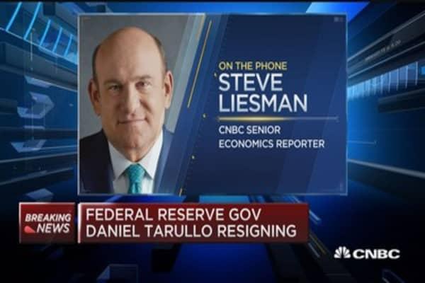 Fed Gov. Daniel Tarullo resigning