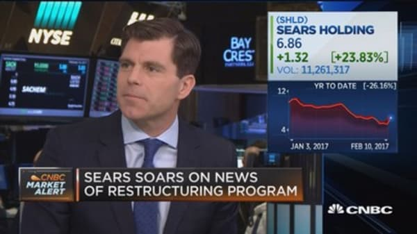 Sears soars on news of restructuring program