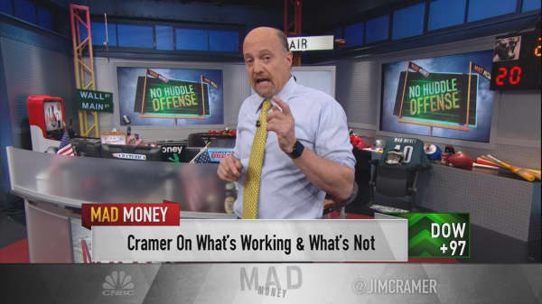 Cramer says couch potatoes are the secret killer of the retail and restaurant industry