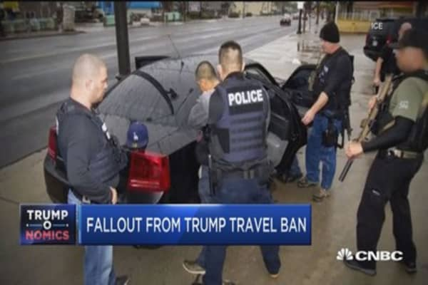 Fallout from Trump travel ban
