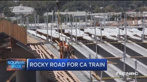 Rocky road for California train