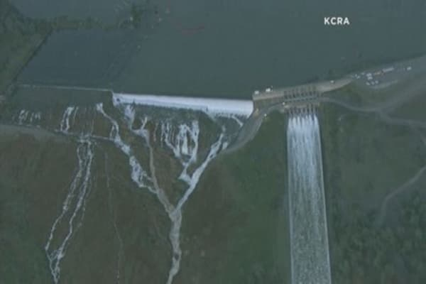 Damaged California spillway forces evacuations