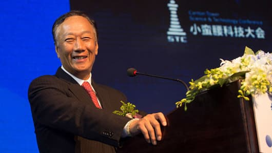 Terry Gou Tai-ming, founder and chairman of Taiwan's Foxconn Technology