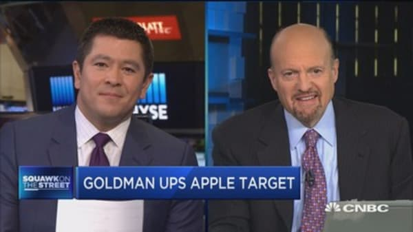 Cramer: Apple's services revenue likely to be as big as a Fortune 100 company