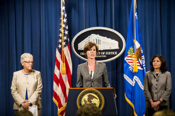 Former Environmental Protection Agency Administrator Gina McCarthy, Former Deputy Attorney General Sally Q. Yates, and Federal Trade Commission Chairwoman Edith Ramirez.