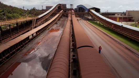 The Carajas Open Cast Iron Ore mine is the largest iron mine in the World, estimates say the site can be mined at today's rates for another 400 years. In the Amazonian State of Para in the north of Brazil, it is operated by the State owned Vale mining corporation.