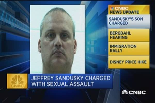 CNBC Update: Jeffrey Sandusky charged with sexual assault