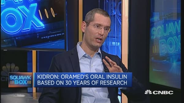 Oral insulin to be a game changer: Oramed CEO