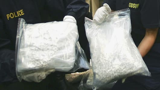 Federal Police display more than one tonne of MDMA
