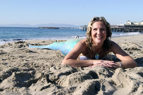 Linden Wolbert has been a professional mermaid for a decade.