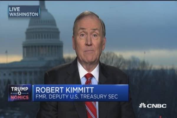 Kimmitt: Treasury Department has most consequential agenda