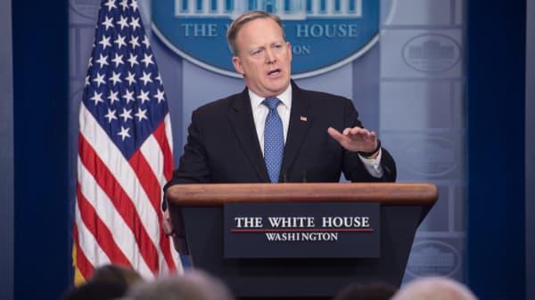 White House spokesman Sean Spicer.